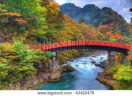 Shinkyo Bridge in Nikko, Japan. 11/01