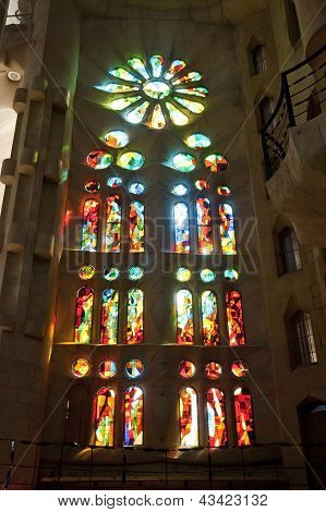 Sagrada Familia Church In Barcelona, Catalonia