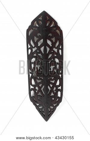 Traditional Wooden Shield Of Indigenous Dayak Indonesia