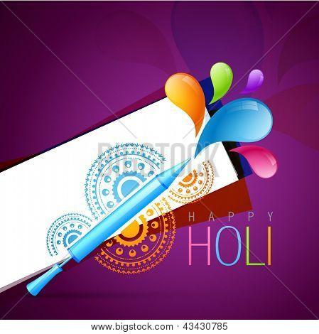 holi festival background with pichkari