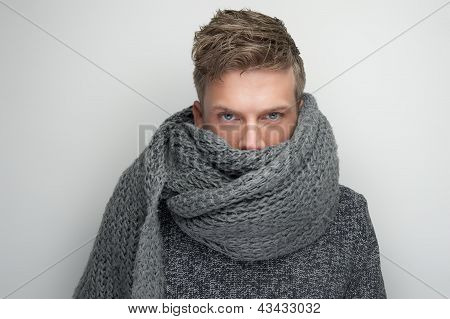 Face Covered By Scarf