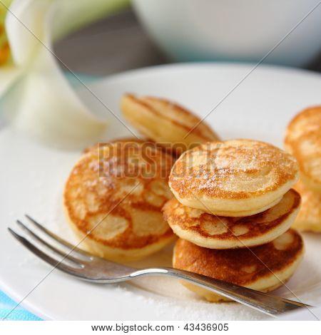 Dutch Mini Pancakes Called Poffertjes