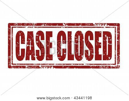 Case Closed Red Rubber Stamp