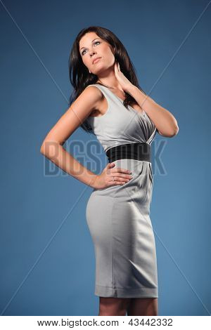 Beautiful Sexy Brunette Model Posing