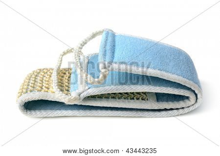 washcloth isolated on white background