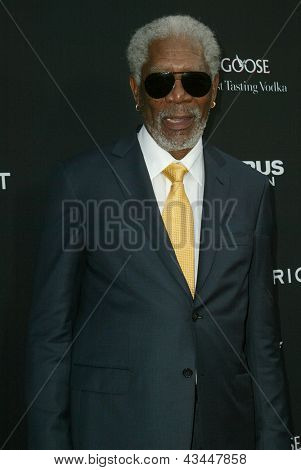 "LOS ANGELES - MARCH 18: Morgan Freeman arrives at the premiere of ""Olympus Has Fallen"" at the ArcLight Hollywood Theatre in Los Angeles, CA on March 18, 2013."