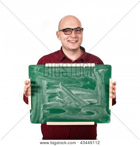 Man With Chalkboard