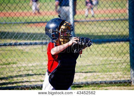 Youth Baseball Catcher