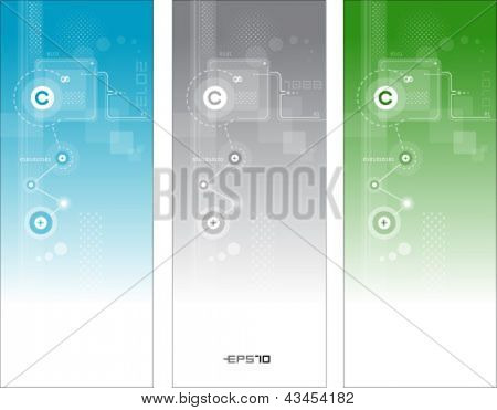 Abstract technology vector banners