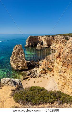Marinha beach at Lagoa, Algarve, Portugal