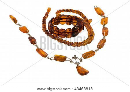 Baltic Amber Stone Jewelry Necklaces Bracelet