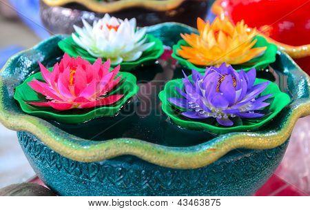 Artificial Plastic Lotus Flower