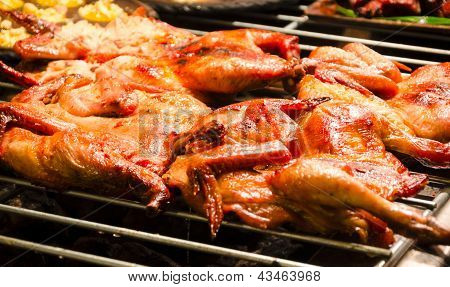 Red Curry Grilled Chicken On The Grill