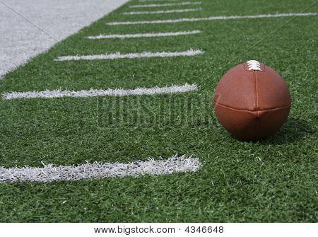 Fútbol cerca de la Hashmarks