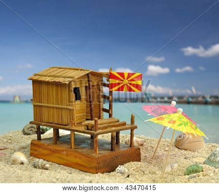 Fisherman House Maquette From Dojran, Macedonia