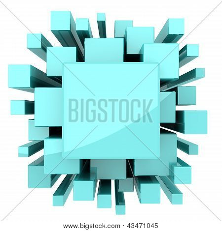 Light Blue Green Solid Abstract Background