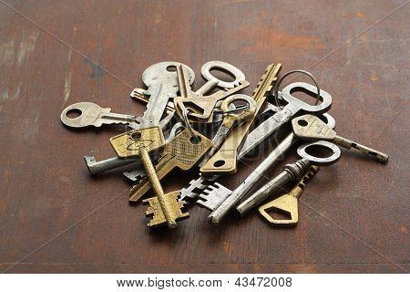 Group Of Vintage Keys
