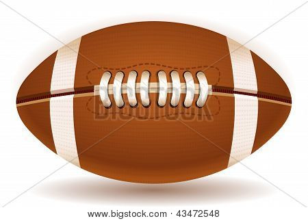 American Football Ball Isolated On Withe
