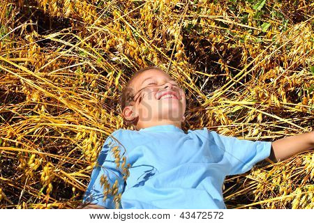 Boy In Wheat Field