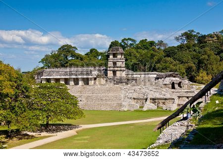 Mayan Temple Of Palenque