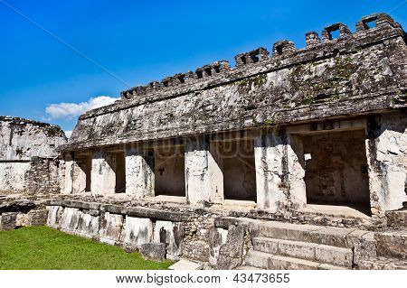 Temple Ruins In Palenque