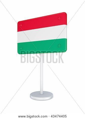 Bunner with flag of Hungary.