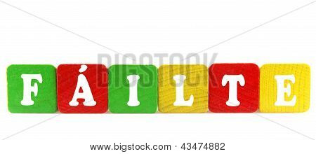 F�ilte - Isolated Text In Wooden Building Blocks