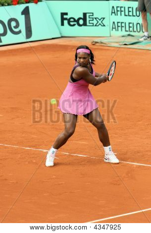 American Tennis Player Serena Williams Plays At Roland Garros