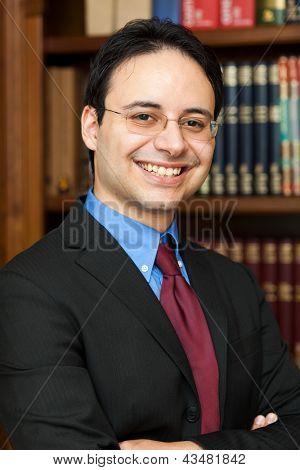Retrato de advogado confiante