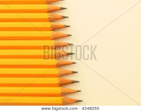 Yellow Pencils Stack