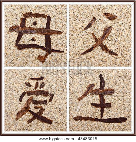 Chinese Character For Mother, Father, Love, Birth