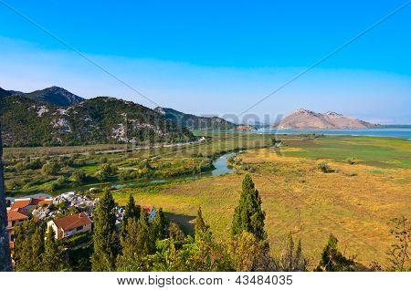 Skadar lake landscape