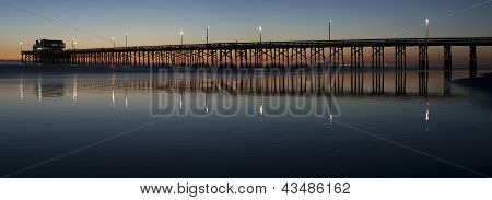 Newport beach pier panorama