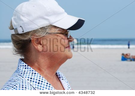 Senior at beach