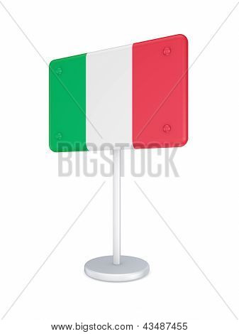 Bunner with flag of Italy.