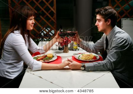 Couple Having Dinner