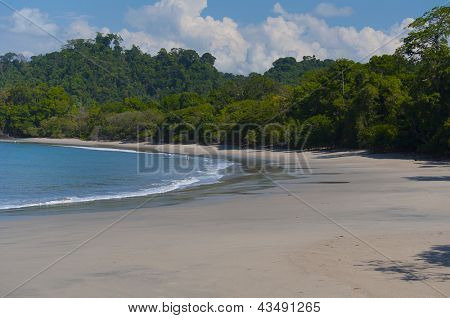 Beautiful beach in Central America