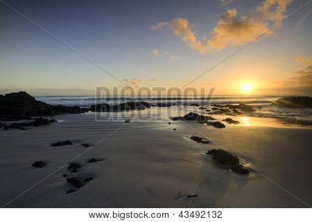 Sunrise on the east coast, Northland, New Zealand