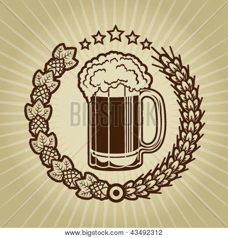Vintage Beer Mug Seal