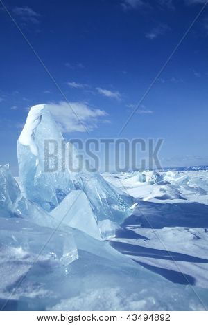 block of ice with sky
