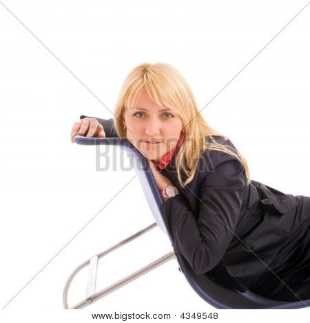 Portrait Of Attractive Businesswoman On Chair