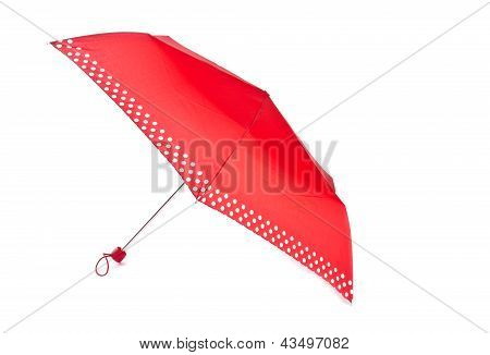 Red Umbrella With White Polka Dots