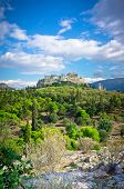 stock photo of akropolis  - Beautiful view of ancient Acropolis Athens Greece - JPG
