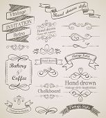image of dinner invitation  - Hand drawn vintage elements - JPG