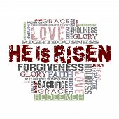 pic of easter decoration  - Different Religious Words isolated on white background - JPG