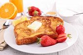 foto of french toast  - french toast with butter and honey - JPG