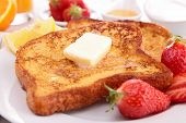image of french toast  - french toast with butter and honey - JPG