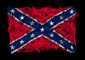stock photo of confederation  - The flag of Confederate States of America consists of a smoke - JPG