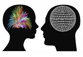 image of hemisphere  - Man and woman might have different perceptions and mode of thoughts - JPG