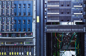 picture of supercomputer  - Network servers in a big data center - JPG